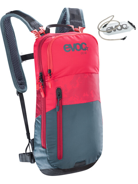 EVOC CC Lite Performance Backpack 6l + Bladder 2l red-slate